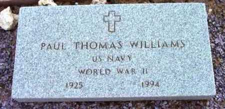 WILLIAMS, PAUL THOMAS - Yavapai County, Arizona | PAUL THOMAS WILLIAMS - Arizona Gravestone Photos
