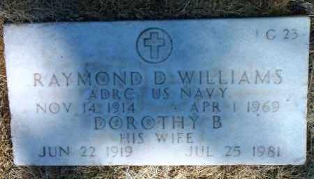 WILLIAMS, RAYMOND D. - Yavapai County, Arizona   RAYMOND D. WILLIAMS - Arizona Gravestone Photos