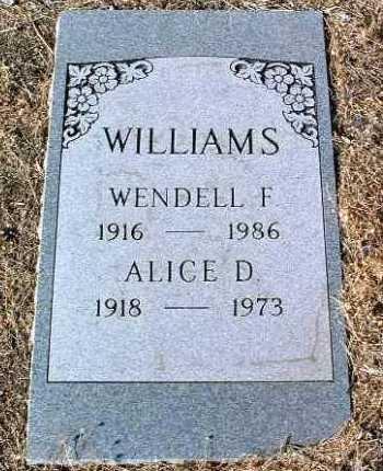 WILLIAMS, WENDELL F. - Yavapai County, Arizona | WENDELL F. WILLIAMS - Arizona Gravestone Photos