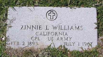 WILLIAMS, ZINNIE LEE - Yavapai County, Arizona | ZINNIE LEE WILLIAMS - Arizona Gravestone Photos