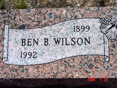 WILSON, BENJAMIN B. - Yavapai County, Arizona | BENJAMIN B. WILSON - Arizona Gravestone Photos