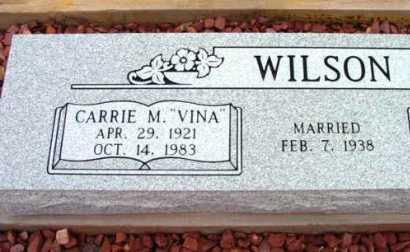 WILSON, CARRIE M. (VINA) - Yavapai County, Arizona   CARRIE M. (VINA) WILSON - Arizona Gravestone Photos