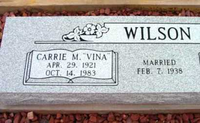 WILSON, CARRIE M. (VINA) - Yavapai County, Arizona | CARRIE M. (VINA) WILSON - Arizona Gravestone Photos