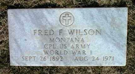 WILSON, FRED FREDERICK - Yavapai County, Arizona | FRED FREDERICK WILSON - Arizona Gravestone Photos