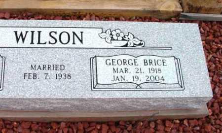 WILSON, GEORGE BRICE - Yavapai County, Arizona | GEORGE BRICE WILSON - Arizona Gravestone Photos