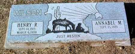 WILSON, ANNABEL M. - Yavapai County, Arizona | ANNABEL M. WILSON - Arizona Gravestone Photos