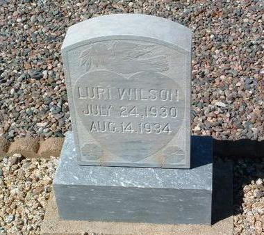 WILSON, LURI - Yavapai County, Arizona | LURI WILSON - Arizona Gravestone Photos