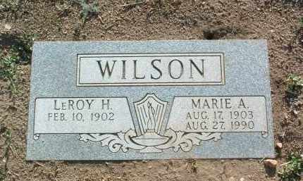 WILSON, LEROY HUGH - Yavapai County, Arizona | LEROY HUGH WILSON - Arizona Gravestone Photos