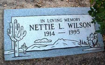 WILSON, NETTIE L. - Yavapai County, Arizona | NETTIE L. WILSON - Arizona Gravestone Photos