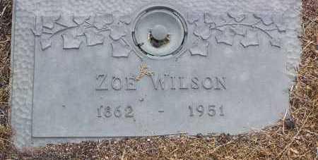 WILSON, ZOE - Yavapai County, Arizona   ZOE WILSON - Arizona Gravestone Photos