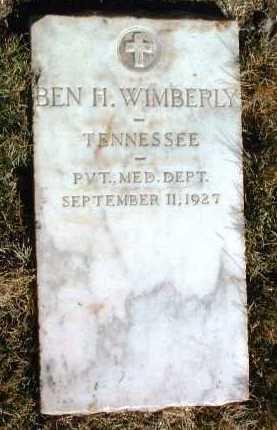 WIMBERLY, BENJAMIN H. (BEN) - Yavapai County, Arizona | BENJAMIN H. (BEN) WIMBERLY - Arizona Gravestone Photos