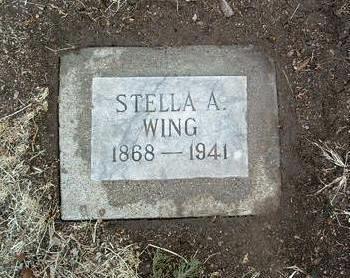 WING, STELLA A. - Yavapai County, Arizona | STELLA A. WING - Arizona Gravestone Photos