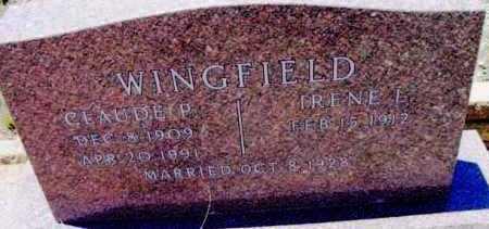 WINGFIELD, IRENE LAURA - Yavapai County, Arizona | IRENE LAURA WINGFIELD - Arizona Gravestone Photos