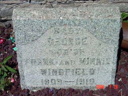 WINGFIELD, GEORGE - Yavapai County, Arizona | GEORGE WINGFIELD - Arizona Gravestone Photos
