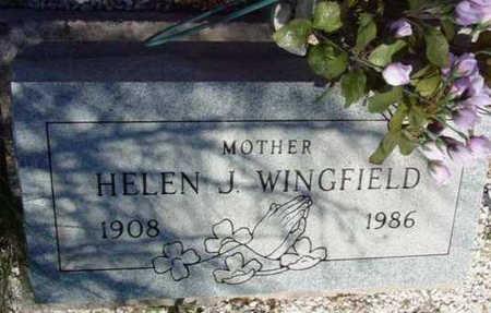 WINGFIELD, HELEN J. - Yavapai County, Arizona | HELEN J. WINGFIELD - Arizona Gravestone Photos
