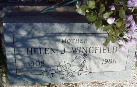 WINGFIELD, HELEN J. - Yavapai County, Arizona   HELEN J. WINGFIELD - Arizona Gravestone Photos