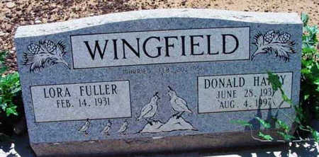 WINGFIELD, DONALD HARRY - Yavapai County, Arizona | DONALD HARRY WINGFIELD - Arizona Gravestone Photos