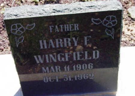 WINGFIELD, HARRY FRANCIS - Yavapai County, Arizona   HARRY FRANCIS WINGFIELD - Arizona Gravestone Photos