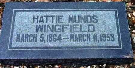 LOY WINGFIELD, HARRIET ANN (HATTIE) - Yavapai County, Arizona | HARRIET ANN (HATTIE) LOY WINGFIELD - Arizona Gravestone Photos