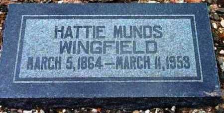 MUNDS, HARRIET ANN (HATTIE) - Yavapai County, Arizona | HARRIET ANN (HATTIE) MUNDS - Arizona Gravestone Photos