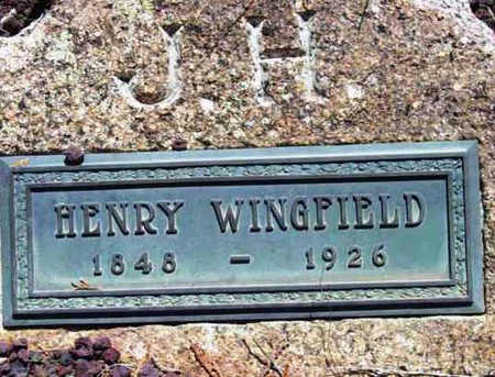 WINGFIELD, JAMES HENRY - Yavapai County, Arizona | JAMES HENRY WINGFIELD - Arizona Gravestone Photos
