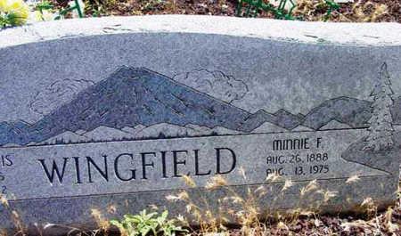 MARTIN WINGFIELD, MINNIE F. - Yavapai County, Arizona | MINNIE F. MARTIN WINGFIELD - Arizona Gravestone Photos