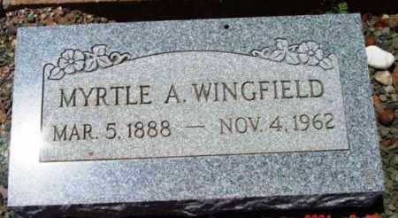 WINGFIELD, MYRTLE ARMENTA - Yavapai County, Arizona | MYRTLE ARMENTA WINGFIELD - Arizona Gravestone Photos