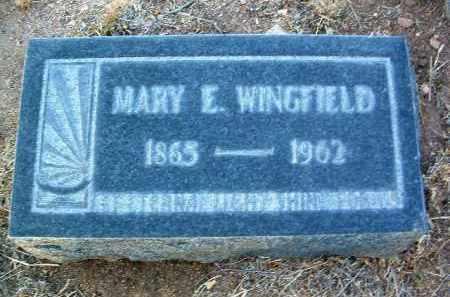 WINGFIELD, MARY E. - Yavapai County, Arizona | MARY E. WINGFIELD - Arizona Gravestone Photos