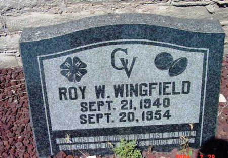 WINGFIELD, ROY WILLIAM - Yavapai County, Arizona | ROY WILLIAM WINGFIELD - Arizona Gravestone Photos