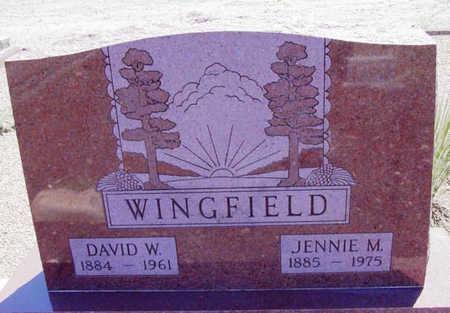 WINGFIELD, SARAH JANE - Yavapai County, Arizona | SARAH JANE WINGFIELD - Arizona Gravestone Photos