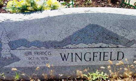 WINGFIELD, WILLIAM FRANCIS - Yavapai County, Arizona | WILLIAM FRANCIS WINGFIELD - Arizona Gravestone Photos