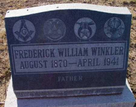 WINKLER, FREDERICK WILLIAM - Yavapai County, Arizona | FREDERICK WILLIAM WINKLER - Arizona Gravestone Photos