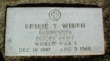 WIRTH, LESLIE T. - Yavapai County, Arizona | LESLIE T. WIRTH - Arizona Gravestone Photos