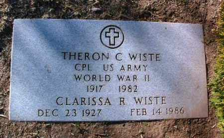 WISTE, THERON C. - Yavapai County, Arizona | THERON C. WISTE - Arizona Gravestone Photos