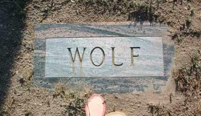 WOLF, CLARENCE CONRAD - Yavapai County, Arizona | CLARENCE CONRAD WOLF - Arizona Gravestone Photos