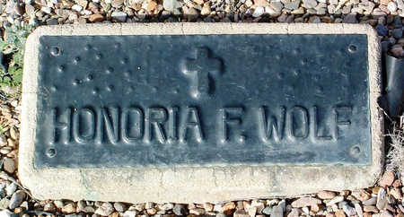 FOLEY WOLF, HONORIA / ELINOR (NORA) - Yavapai County, Arizona | HONORIA / ELINOR (NORA) FOLEY WOLF - Arizona Gravestone Photos