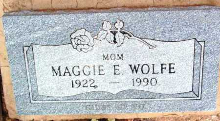 WOLFE, MAGGIE E. - Yavapai County, Arizona | MAGGIE E. WOLFE - Arizona Gravestone Photos