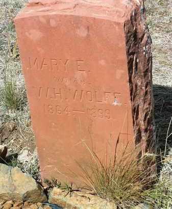 WOLFE, MARY EMMA - Yavapai County, Arizona   MARY EMMA WOLFE - Arizona Gravestone Photos