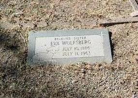WOLFSBERG, EVA - Yavapai County, Arizona | EVA WOLFSBERG - Arizona Gravestone Photos