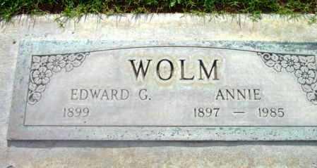 WOLM, EDWARD G. - Yavapai County, Arizona | EDWARD G. WOLM - Arizona Gravestone Photos