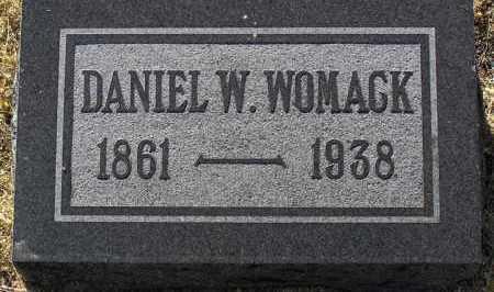 WOMACK, DANIEL WEBSTER - Yavapai County, Arizona | DANIEL WEBSTER WOMACK - Arizona Gravestone Photos