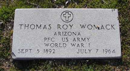 WOMACK, THOMAS ROY - Yavapai County, Arizona | THOMAS ROY WOMACK - Arizona Gravestone Photos