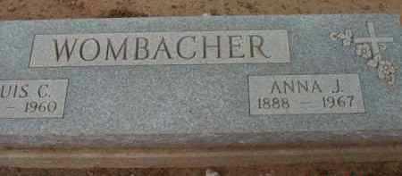WOMBACHER, ANNA J. - Yavapai County, Arizona | ANNA J. WOMBACHER - Arizona Gravestone Photos