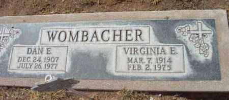 WOMBACHER, VIRGINIA E. - Yavapai County, Arizona | VIRGINIA E. WOMBACHER - Arizona Gravestone Photos
