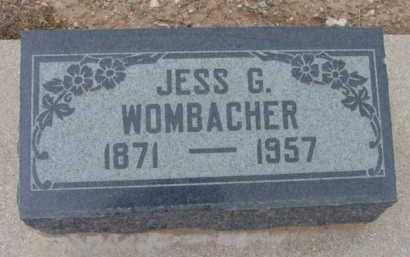 WOMBACHER, JESSE G. - Yavapai County, Arizona | JESSE G. WOMBACHER - Arizona Gravestone Photos