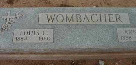 WOMBACHER, LOUIS CYRIL - Yavapai County, Arizona   LOUIS CYRIL WOMBACHER - Arizona Gravestone Photos