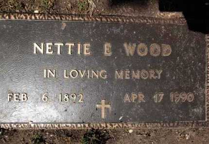 WOOD, NETTIE EUGENIA - Yavapai County, Arizona | NETTIE EUGENIA WOOD - Arizona Gravestone Photos