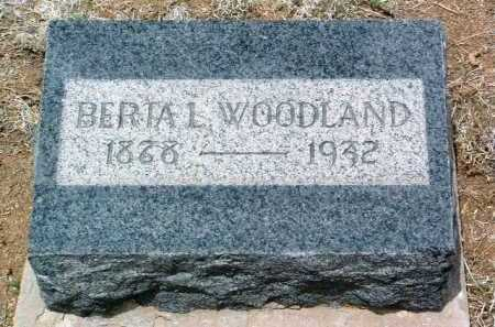 WOODLAND, BERTA L. - Yavapai County, Arizona | BERTA L. WOODLAND - Arizona Gravestone Photos