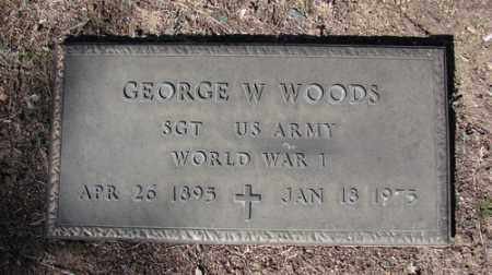 WOODS, GEORGE W. - Yavapai County, Arizona | GEORGE W. WOODS - Arizona Gravestone Photos