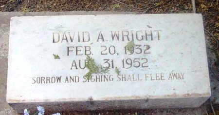 WRIGHT, DAVID ARROW - Yavapai County, Arizona   DAVID ARROW WRIGHT - Arizona Gravestone Photos